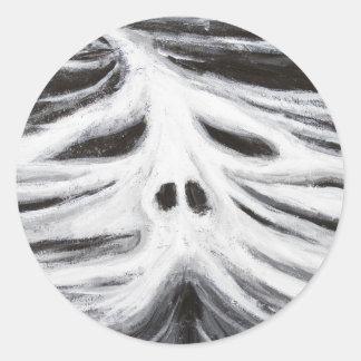 El jefe del leviatán surrealismo blanco y negro pegatina