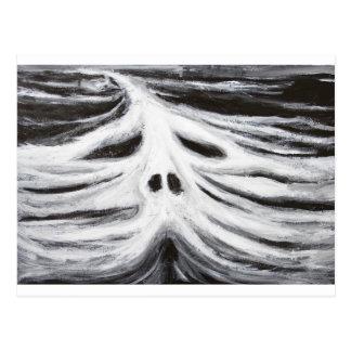 El jefe del leviatán (surrealismo blanco y negro) tarjeta postal