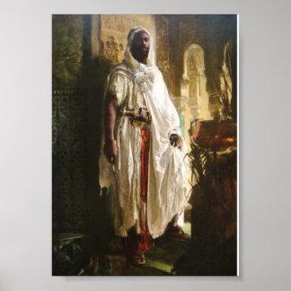 El jefe del Moorish de Eduard Charlemont Póster