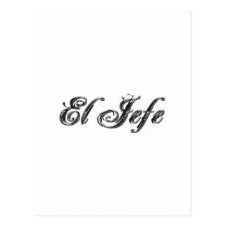 El Jefe logo Estilo Style Postcard