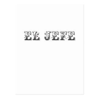 El Jefe logo Floreado Postcard