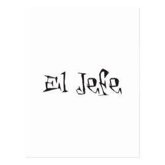 El Jefe logo tuerto funky Postcard