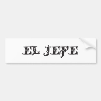 El Jefe logo Vaquero Cowboy Bumper Sticker