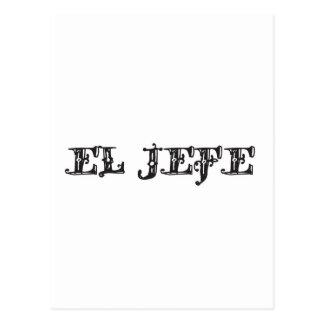 El Jefe logo Vaquero Cowboy Postcard