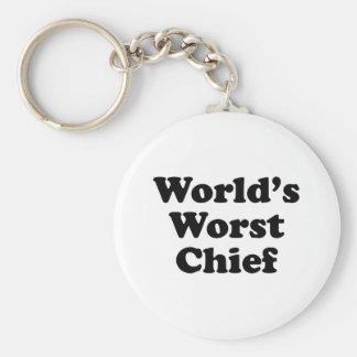 El jefe peor del mundo llavero redondo tipo pin