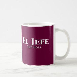 El Jefe The Boss Gifts Classic White Coffee Mug