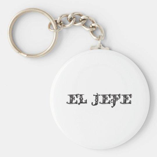 """El Jefe """"the boss"""" stuff Keychain"""