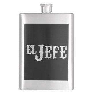 El Jefe Translation The Boss Hip Flask
