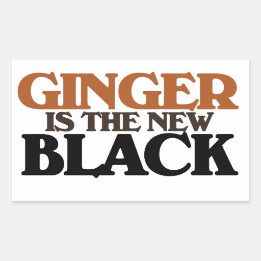 El jengibre es el nuevo negro pegatina