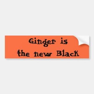 El jengibre es el nuevo negro pegatina para auto