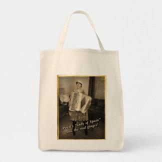 El jengibre real de la perla bolsa tela para la compra