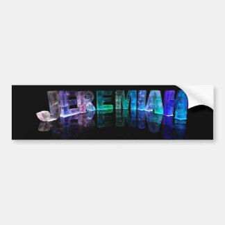 El Jeremiah conocido en 3D se enciende (la fotogra Pegatina Para Auto