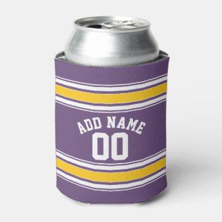 El jersey amarillo púrpura raya número conocido de enfriador de latas