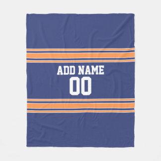 El jersey azul y anaranjado raya número conocido manta polar