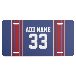 El jersey de equipo raya nombre y número de encarg placa de matrícula