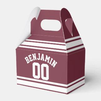 El jersey marrón y blanco raya número conocido de cajas para detalles de boda