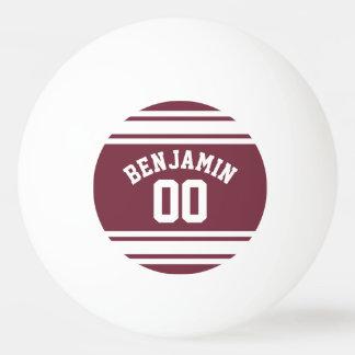 El jersey marrón y blanco raya número conocido de pelota de ping pong