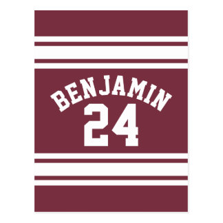 El jersey marrón y blanco raya número conocido de postales