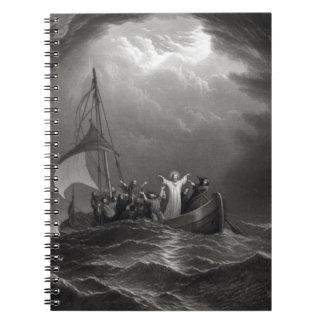 El Jesucristo calma la tempestad Libro De Apuntes