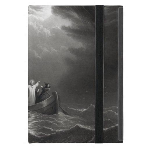 El Jesucristo calma la tempestad iPad Mini Funda