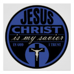El Jesucristo es mi salvador (azul) Impresiones