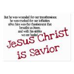 El Jesucristo es salvador (la zona) Tarjetas De Visita Grandes