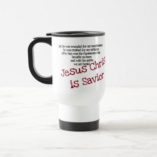 El Jesucristo es salvador Tazas De Café