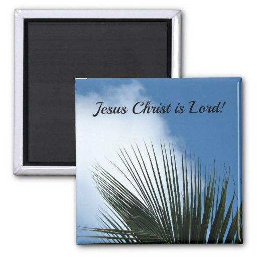 ¡El Jesucristo es señor! Imán Cuadrado
