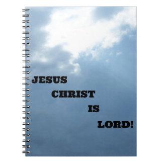 ¡El Jesucristo es señor Libros De Apuntes Con Espiral