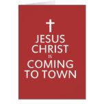 El Jesucristo está viniendo a la ciudad Felicitación