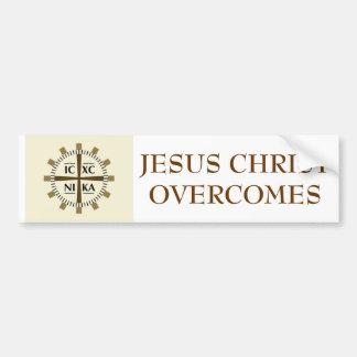"""El """"Jesucristo griego supera """" Pegatina Para Coche"""