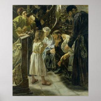 El Jesús de doce años en el templo, 1879 Póster