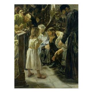 El Jesús de doce años en el templo, 1879 Postal