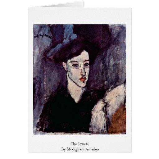 El Jewess de Modigliani Amedeo Felicitaciones