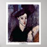 El Jewess de Modigliani Amedeo Poster