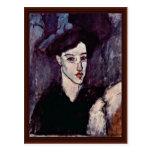 El Jewess de Modigliani Amedeo Tarjeta Postal