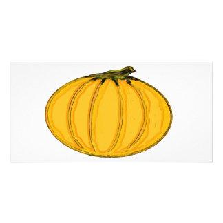 El jGibney Pumpkin7tc100 de la serie del artista d Tarjeta Con Foto Personalizada