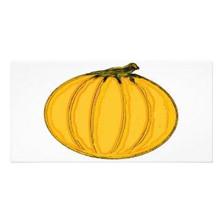 El jGibney pumpkin7tc100 de la serie del artista d Tarjetas Fotograficas