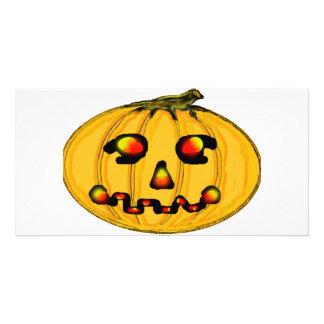 El jGibney Pumpkinfirey de la serie del artista de Tarjeta Con Foto Personalizada