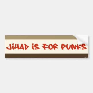 El Jihad está para los punks Pegatina Para Auto