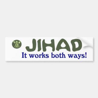El Jihad trabaja el PARACHOQUE de la CA de ambas m Pegatina De Parachoque
