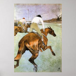 El jinete 2 por Toulouse-Lautrec Poster