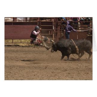 El jinete de Bull consigue airlifted Tarjeta De Felicitación
