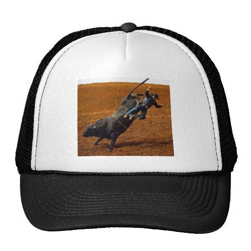 El jinete de Bull Gorro De Camionero