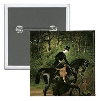 El jinete Kipler en su yegua negra Pin Cuadrado