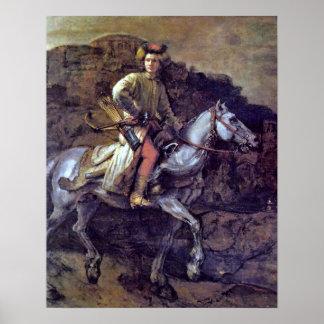 El jinete polaco de Rembrandt Harmenszoon van Rijn Impresiones