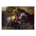 El jinete polaco de Rembrandt Harmenszoon van Rijn Tarjeta De Felicitación