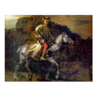 El jinete polaco de Rembrandt Harmenszoon van Rijn Tarjeta Postal
