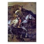 El jinete polaco de Rembrandt Van Rijn Tarjeta De Felicitación