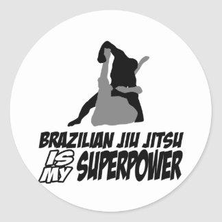 El jitsu brasileño del jiu es mi superpotencia etiqueta redonda